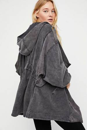 Free People Slouchy Hoodie Cardigan Jacket