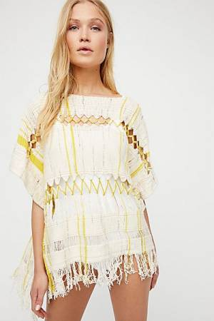 """Free People Boho Top """"Sundream Pullover Sweater Poncho"""""""