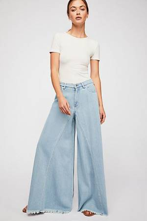"Free People Wide Leg Jeans ""Pirouette Pants"" We The Free"