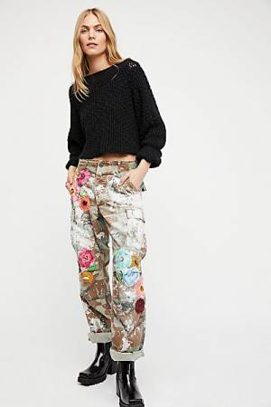 """Rialto Jean Project Pants """"Embroidered Camouflage"""" Cargo"""