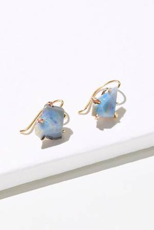 "Variance Objects Opal Hook Earrings ""Raw Australian"""