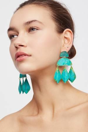 We Dream in Colour Kalaiya Patina Earrings