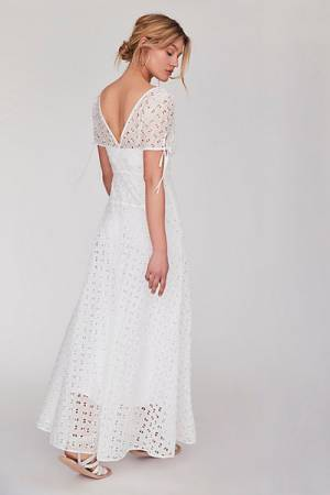 Free People FP Limited Edition Jill's White Maxi Dress