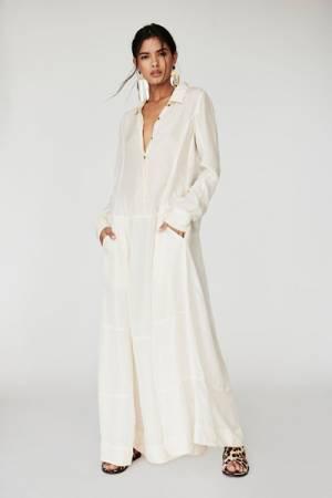 Nicholas K White Silk Maxi Dress