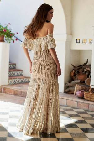 Free People FP Limited Edition Emma's Crochet Maxi Dress
