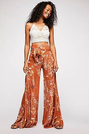 "Free People Boho Wide Leg Pants ""Aloha"" FP One"