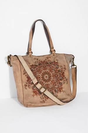 Campomaggi Mantua Embellished Bohemian Tote Bag