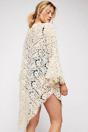 "Free People Boho Lace Robe ""Move Over"""