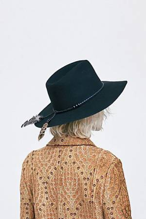 "Free People Boho Felt Hat ""Wild Heart"""