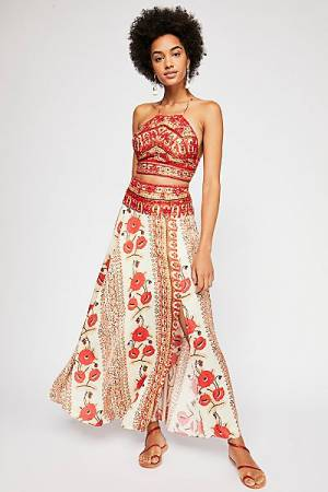 "Free People Bohemian Maxi Skirt Set ""Silk Road"""