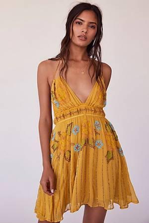 Free People Bali Sun Beam Mini Dress