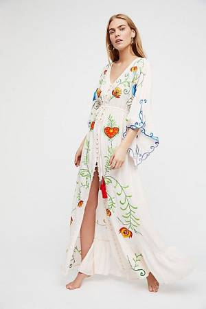 "Fillyboo Bohemian Maxi Dress ""Strange Magic"" Kimono"