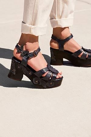 """Anna Sui Boho Platform Clog Sandals """"Dalianna"""""""