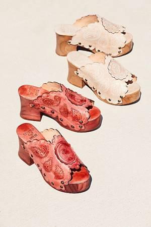 """Anna Sui Platform Clog Sandals """"Elianna"""" Boho Shoes"""