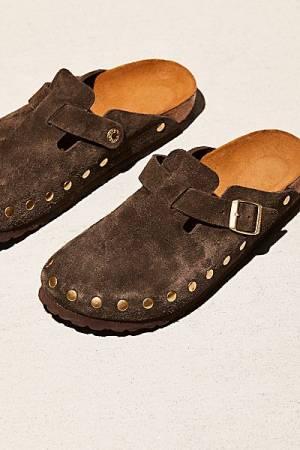 "Birkenstock Studded Slip-On Clogs ""Boston"""
