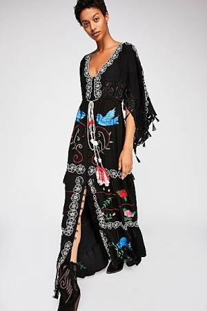 Fillyboo Bohemian Kimono Maxi Dress