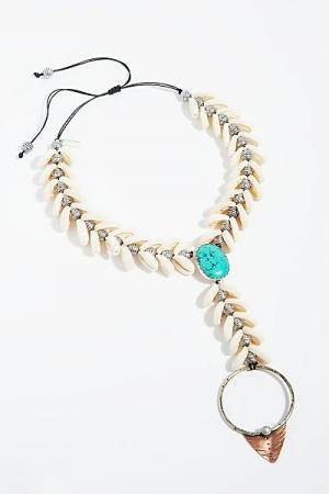 "Ouroboros Boho Jewelry ""Siren Shell Necklace"""