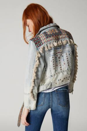 "Blank NYC Boho Denim Jacket ""Wandering Wind"""