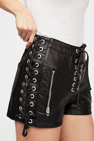 Blank NYC Game On Vegan Leather Shorts