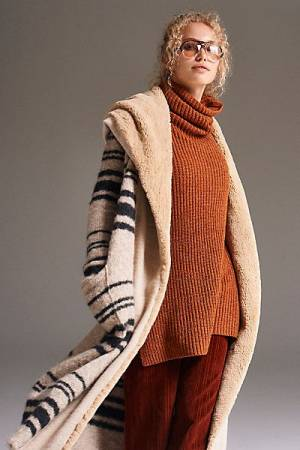 """Free People Jackets """"Sweetest Thing"""" Striped Sweater Coat"""