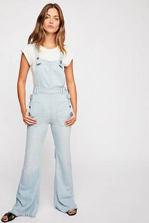 "Free People Denim Utility Overall Jeans ""Sparrow"""