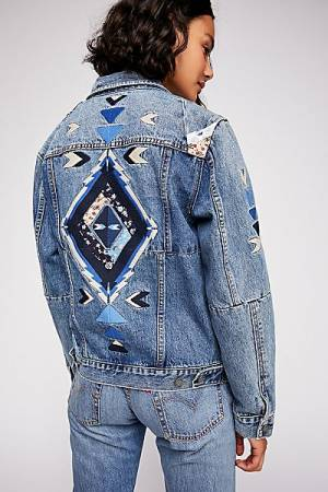 "Blank NYC Patchwork Denim Jacket ""Pub Crawl"""