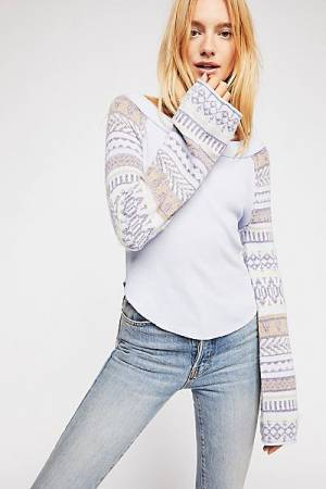 "Free People Tops ""Fairground"" Boho Thermal Top"