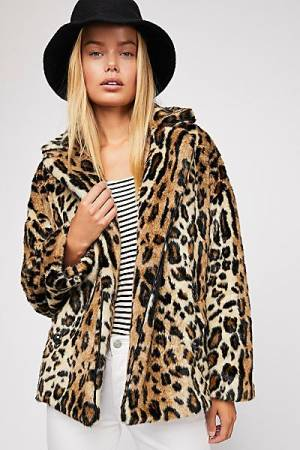 "Free People Leopard Coat ""Kate"""