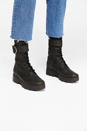 "Free People Lace Up Boot ""Harley"" Biker"