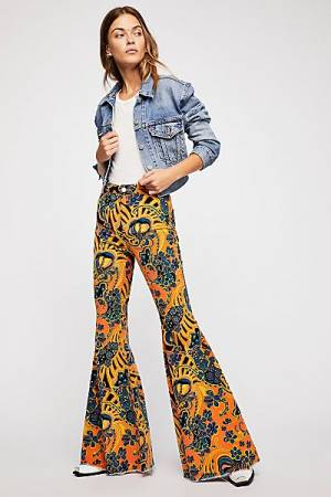 "Free People Boho Flare Jeans ""Just Float On"" '70s Style"