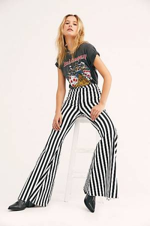 "Free People Flare Jeans ""Just Float On Hampton Days Stripe"""