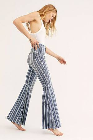 "Free People Jeans ""Just Float On Stripes"""