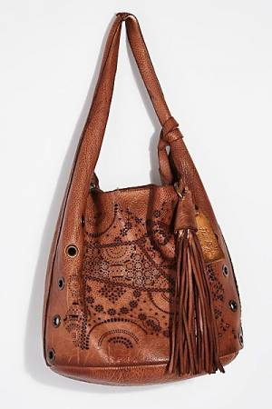 "Free People Boho Distressed Tote Bag ""Cascade"""
