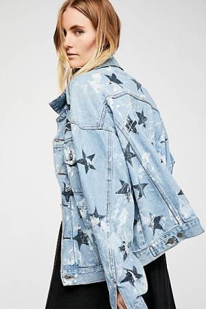 """Rialto Jean Project Denim Jacket """"Stars"""""""