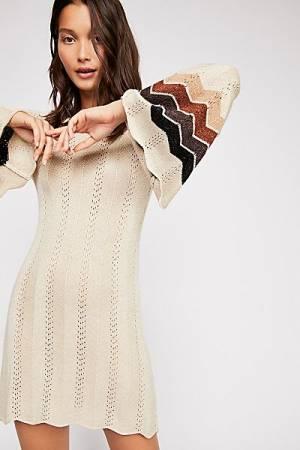 "Jen's Pirate Booty Sweater Mini Dress ""Palm Grove"" Retro Style"
