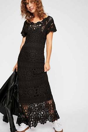 "Free People Maxi Dress ""Fairytale Forest"" Boho Chic"