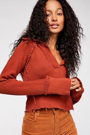 "Free People Top ""Darcy"" Casual Cool"