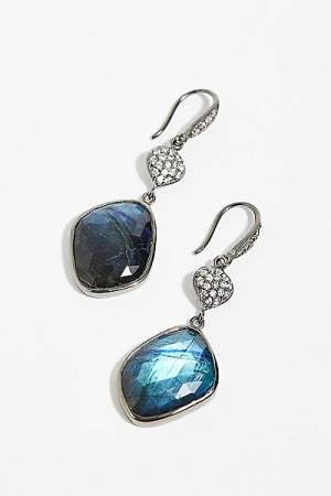 "Ela Rae Organic Shape Pave Earring ""Boho Jewelry"""