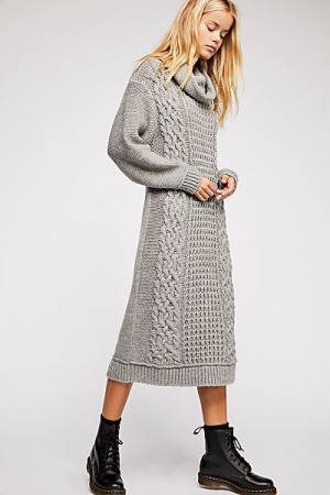 "Free People Sweater Dress ""Perfect Cable"" Knitwear"