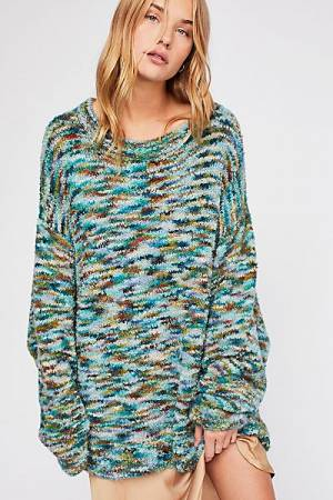 "Free People Sweater ""Loop Boucle"" Tunic Pullover"