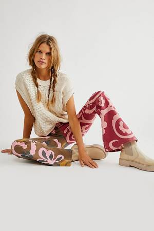 """Free People Flare Jeans """"Wine Combo Penny"""""""