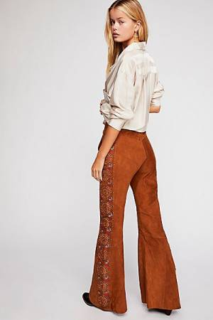 "Free People Suede Pants ""Beautiful Daze"" Boho Chic"