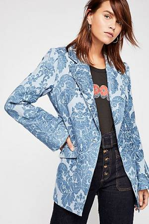 "Free People Blazer ""Valerie Tapestry"" Boho Jacket"