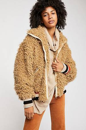 """Free People Jacket """"High In The Sky"""" Bomber Teddy"""