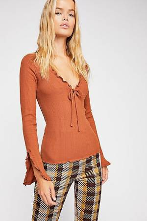 "Free People Top ""Fall For You"" Boho-Chic"