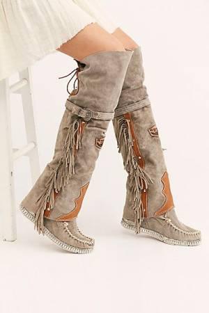 El Vaquero Tall Moccasin Boots