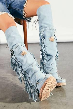 "Bohemian Tall Moccasin Boots ""Drifter"""