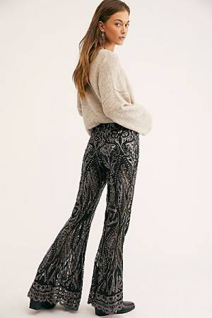 "Anna Sui Bell Bottom Pants ""Sequin"""