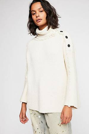 """Free People Sweater """"On My Side"""" Pullover"""