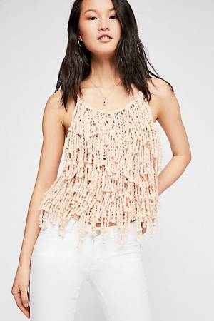 "Loopy Mango Boho Fringed Knit Top ""Beacon"""